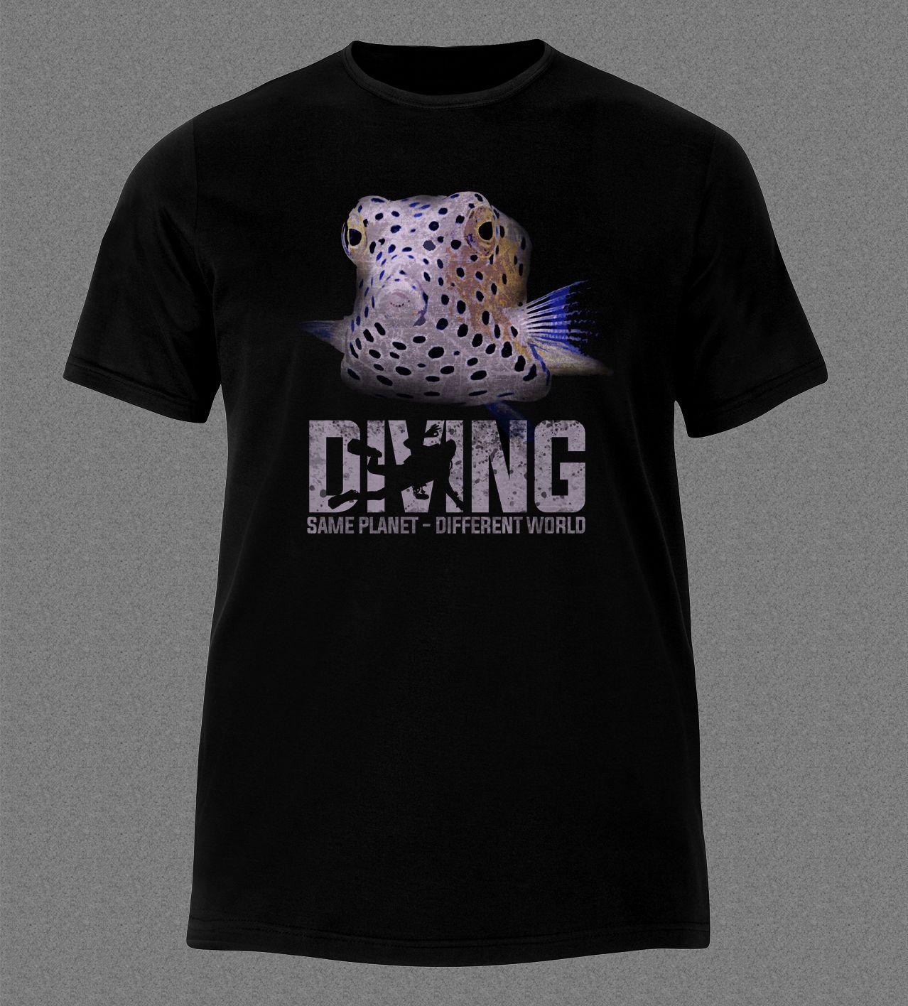 info for 097a4 703f0 Cheap Price 100 % Cotton Tee Shirts BOX FISH DIVER GEAR SCUBA OCEAN SEA  T-shirt stephen curry jersey