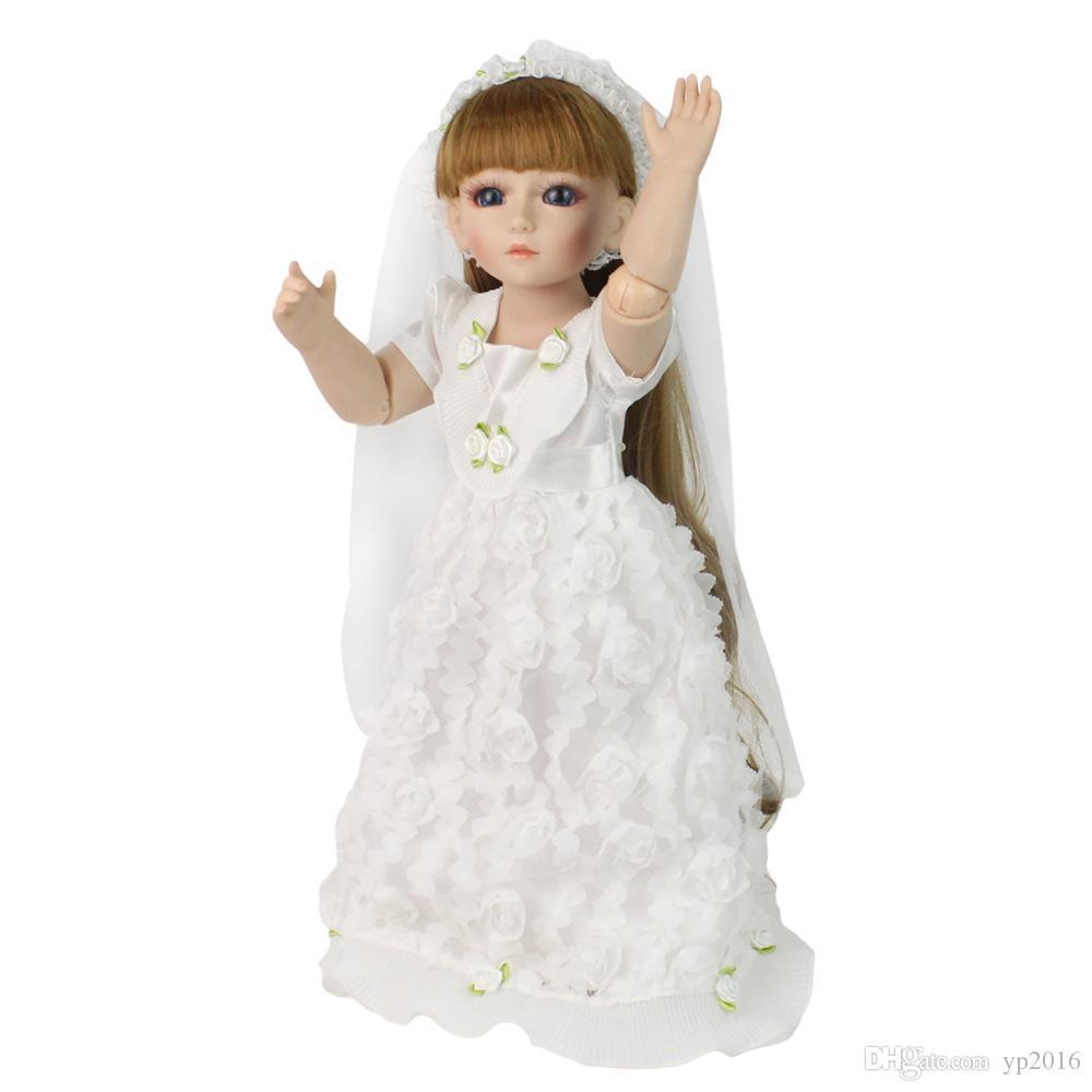 48cm Lifelike Silicone Baby girls Reborn Babies Dolls Joint wedding Babies Alive Early Education Boneca Kids Playmate