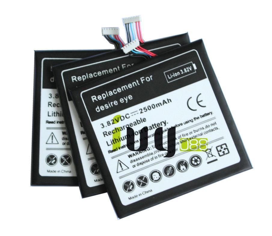 10 adet / grup Için 2500 mAh B0PFH100 Yedek Pil HTC desire eye M910X M910n Piller Batteria Batterij