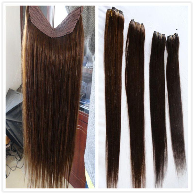 Grade 7a Halo Hair Extension Real Russian Natural Hair Flip In Human