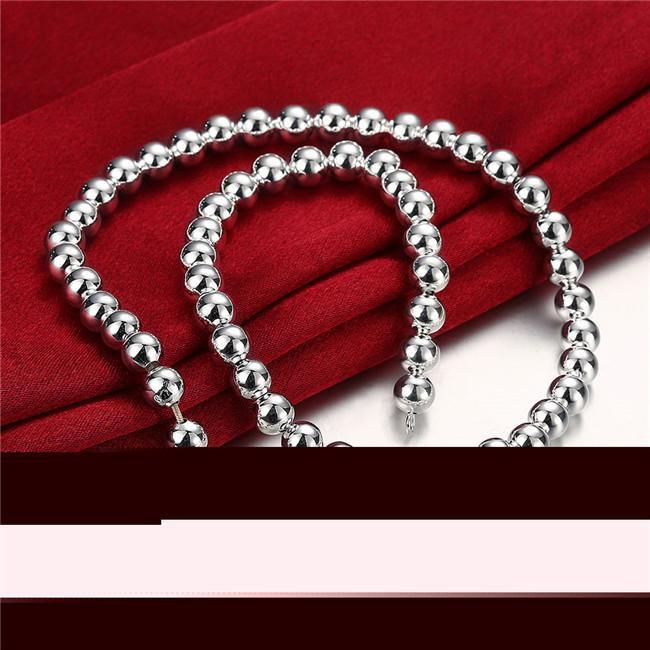 Lourdes 75g 8MM perles collier modèles masculins solide plaqué collier en argent sterling STSN111A, mode vente chaîne en argent 925 chaînes collier