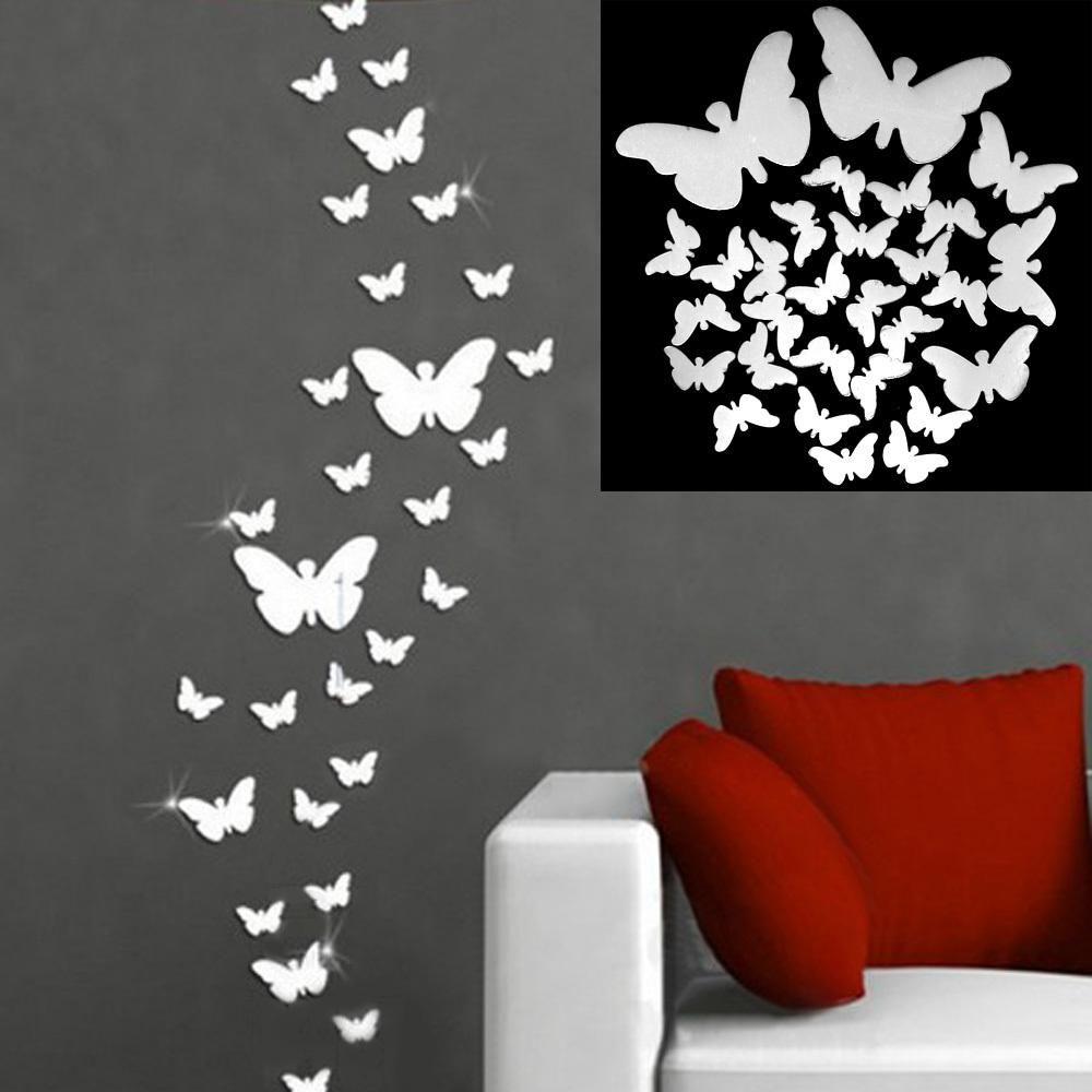 Compre 3 tama os decoraci n para el hogar mariposa grandes - Posters grandes para pared ...