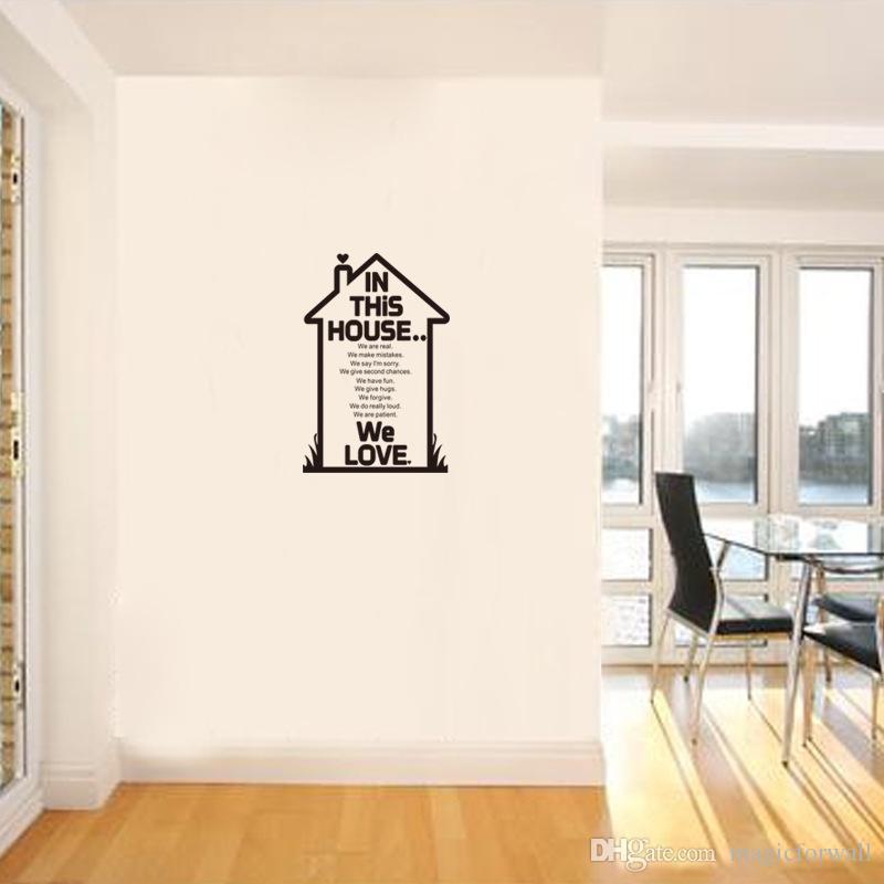 LES MEILLEURS CLIENTS Wall Sticker citation salle à manger salon Applique murale