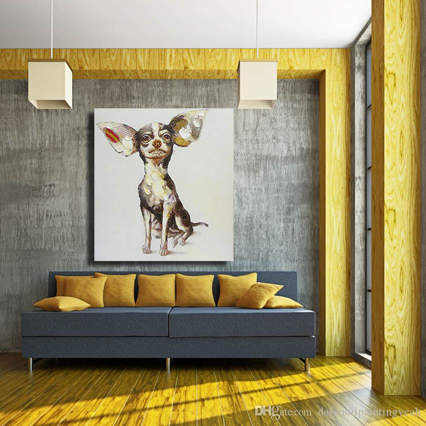 Pintura al óleo china Animal Pictures Modern Canvas Wall Art Home Decor Sala de estar Imágenes de la pared 1 Peices Pop Art No enmarcado