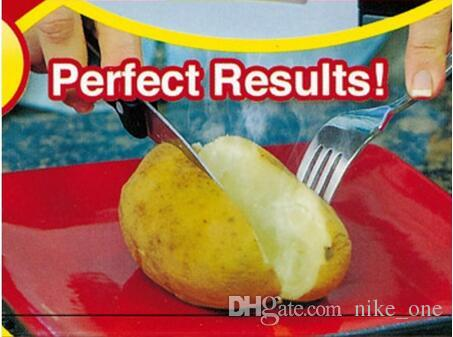Christmas Dinner Potato Cooking Tool Bag Red Washable Baked Potato Microwave Cooking Quick Baking Cooking Tools with Retail Boxes