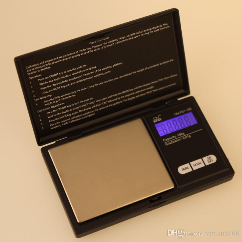 Alta Precisão Mini LCD Digital de Escala do Bolso Jóias com Diamante em Ouro de Ponderação da Escala de Grama de Peso Escalas de 1000g/0,1 g, com caixa de