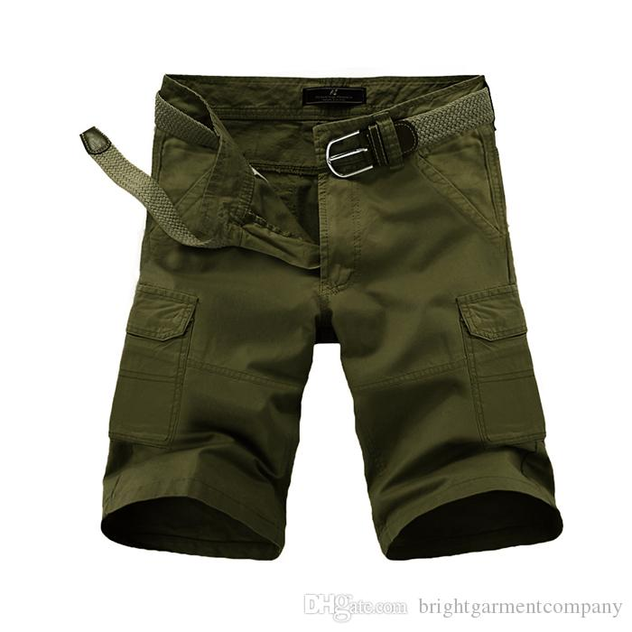 Casual Shorts Analytical Hot 2019 Summer Washing Multi Pocket Patch Cargo Overalls Knee Length Shorts Straight Cotton Casual Tactical Military Shorts Men