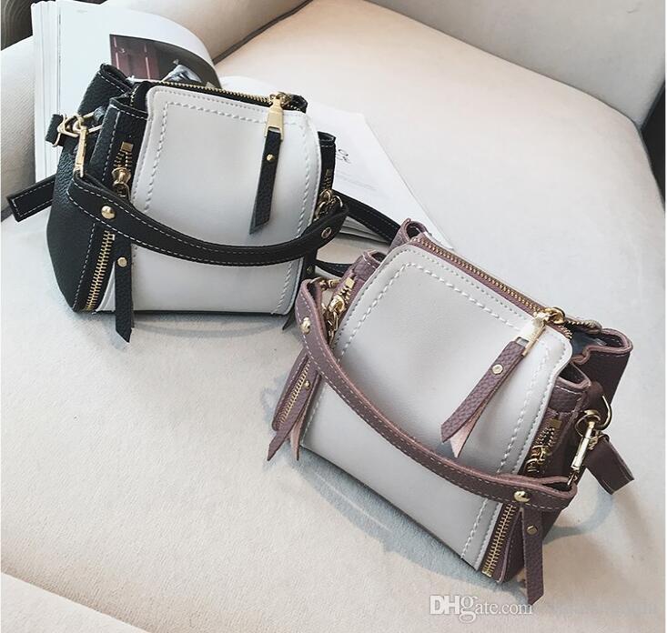 2017. Bucket bag. Handbag. Fashion casual bag. Women's Bags. Small. Bump color. Mini. PU. Soft.Cross Body.Shoulder Bags.Totes.