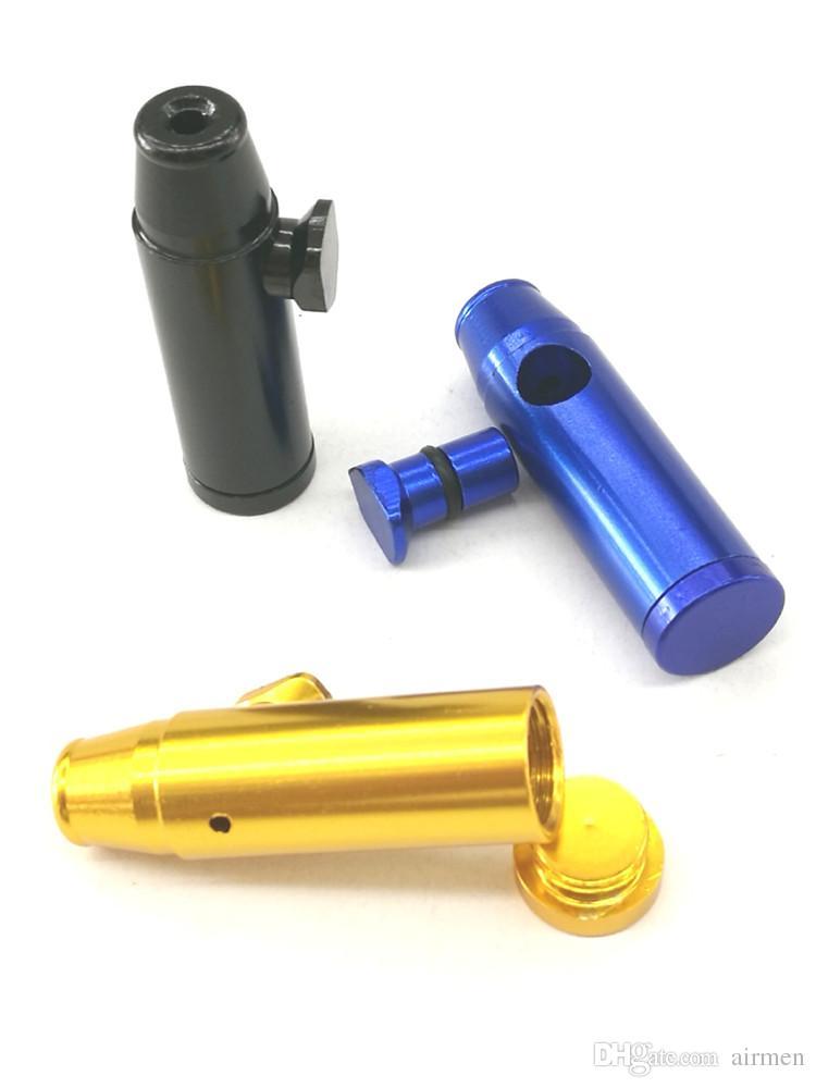 2016 Bullet Aluminium Metalen Snuff Snirt Smoking Pipe Shisha Hookah Grinder Gift Rolling Machine Paper Sneak Een Toke Vaporizer-pillendoos
