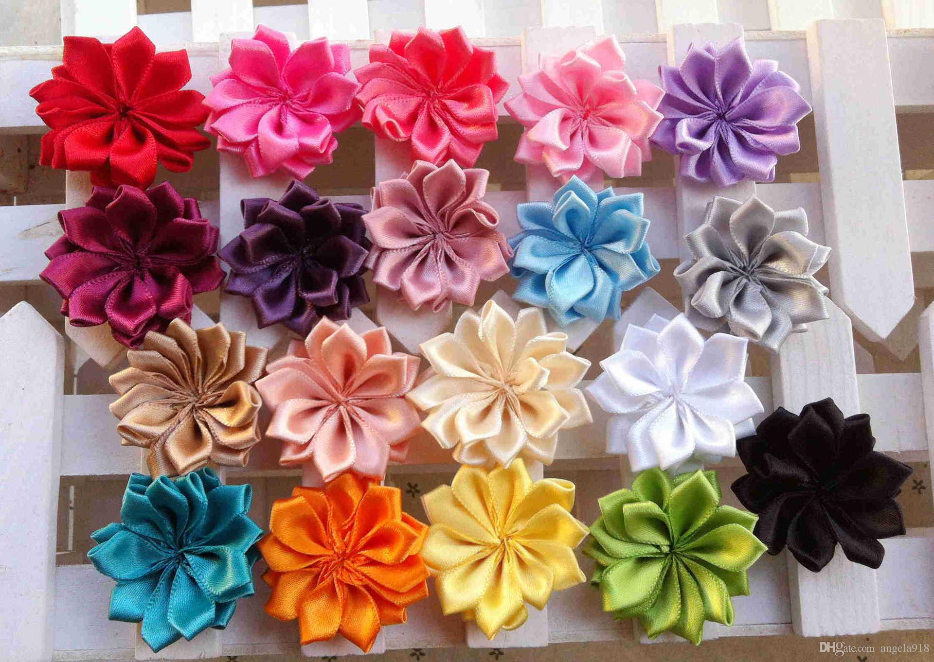 Frete grátis tecido flores com centro de strass cristal flat back acessórios para faixa de cabelo faixa de cabelo arco E829