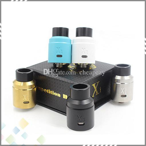 Newest X1 Vaperz Cloud RDA Rebuildable Atomizer 304 Stainless Steel 24mm diameter Adjustable Airflow fit 510 Mods DHL Free