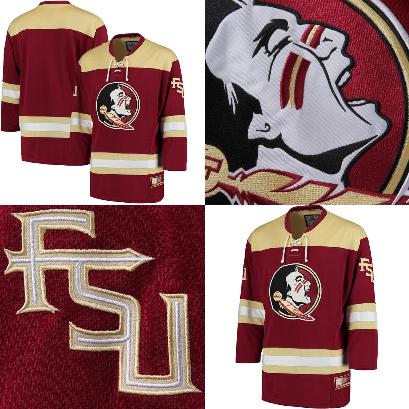2019 Customize NCAA Florida State Seminoles College Jersey Mens Womens Kids  Custom Any Name Any NO.Best Quality Cheap Ice Hockey Jerseys S 6XL From ... 0a4ae06b60a