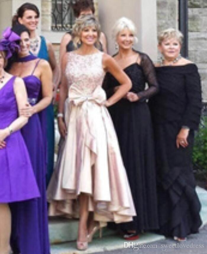 2019 Abito da ballo in raso gioiello a figura intera donne con chiusura a prua, chiusura lampo, hi-lo, cocktail, abito da festa, abito senza maniche