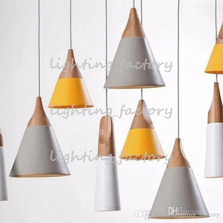 new SLOPE lamps pendant lights Skrivo design Wood and aluminum lamp restaurant bar coffee dining room LED hanging light fixture