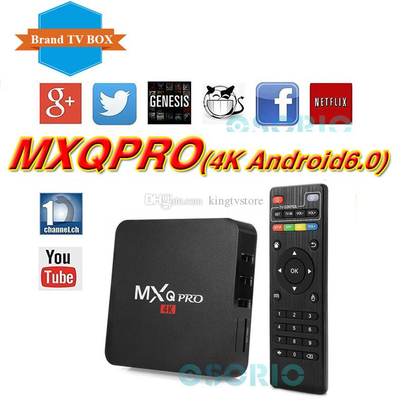 MXQ PRO Android tv box RK3329 Android 6.0 1G/8G WiFi 4K Loaded add-ons 1080i/p set top box