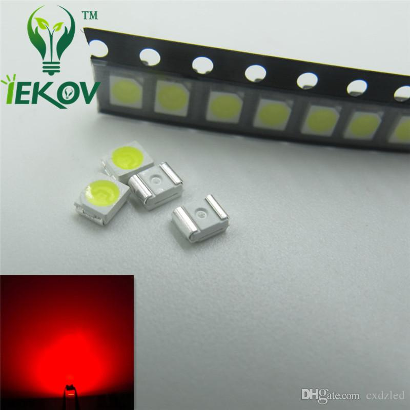 Red LED 1210 3528 PLCC-2 SMD Ultra Bright Light Emitting diodes 1.8-2.1 620-630NM SMD/SMT Chip lamp beads Wholesale