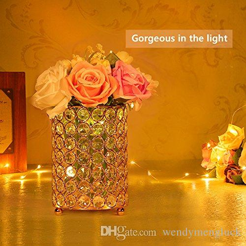 Wedding Table Centerpieces Candle Holders Crystal Bowl Tealight Candle Lantern Home Wedding Party Decoration Holiday Vase Brush Holder
