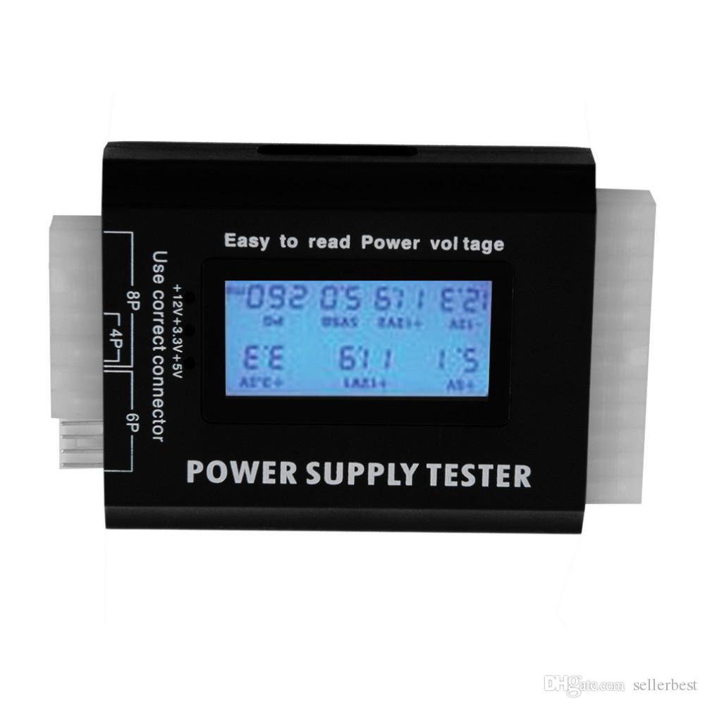 Digital LCD LED PC Computer PC ATX Tester di alimentazione 20/24 Pin SATA HDD Tester SATA HDD 4 pin 6pin 8pin floppy iTX ATX BTX