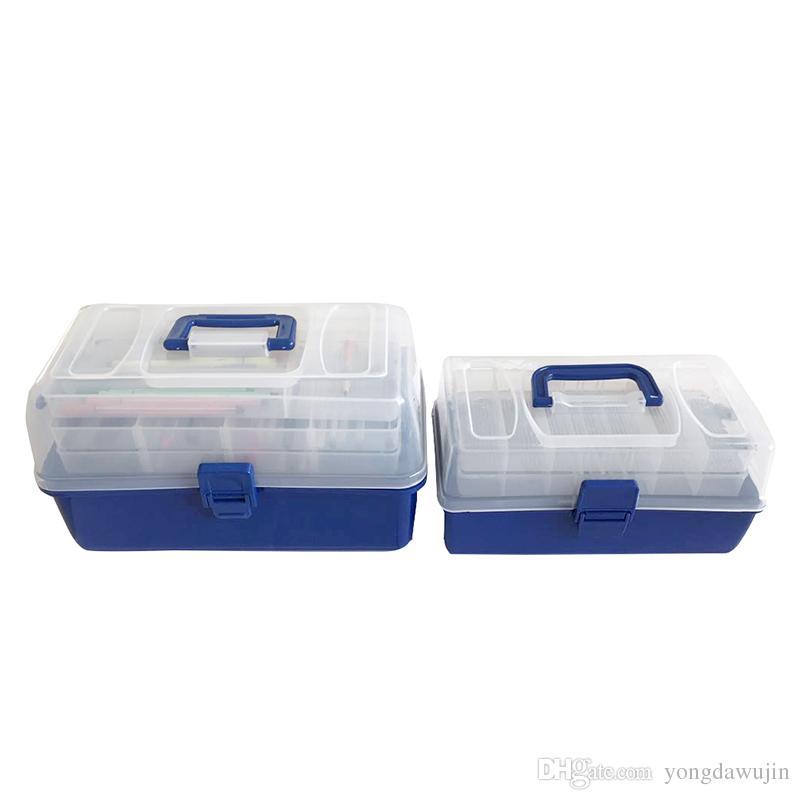 2018 High Capacity Multi Level Storage Boxes Transparent Storage