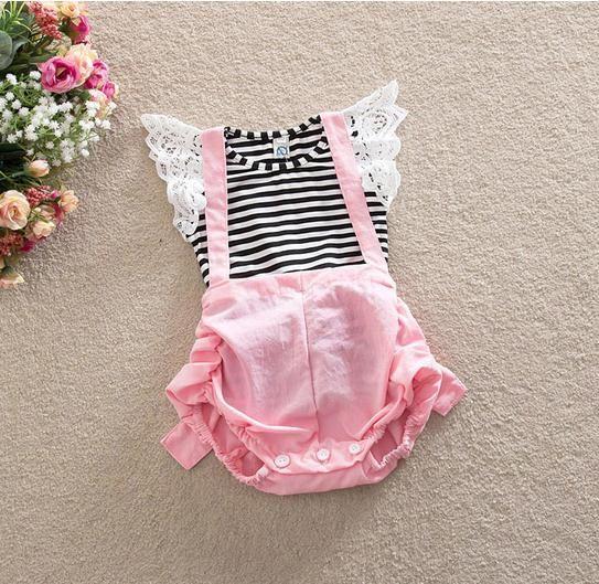 2 adet / takım yeni 2016 Yaz kıyafetler Kız Giyim Seti çocuklar kız pamuk T Shirt Tops + Romper pantolon Takım Elbise Çocuklar Kızlar için Giysi Set