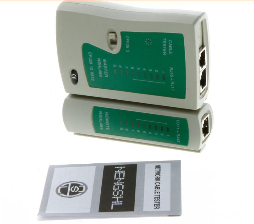 Professional Network Cable Tester RJ45 RJ11 RJ12 CAT5 UTP LAN Cable Tester Networking Tool Wholesale Retail ZPG211