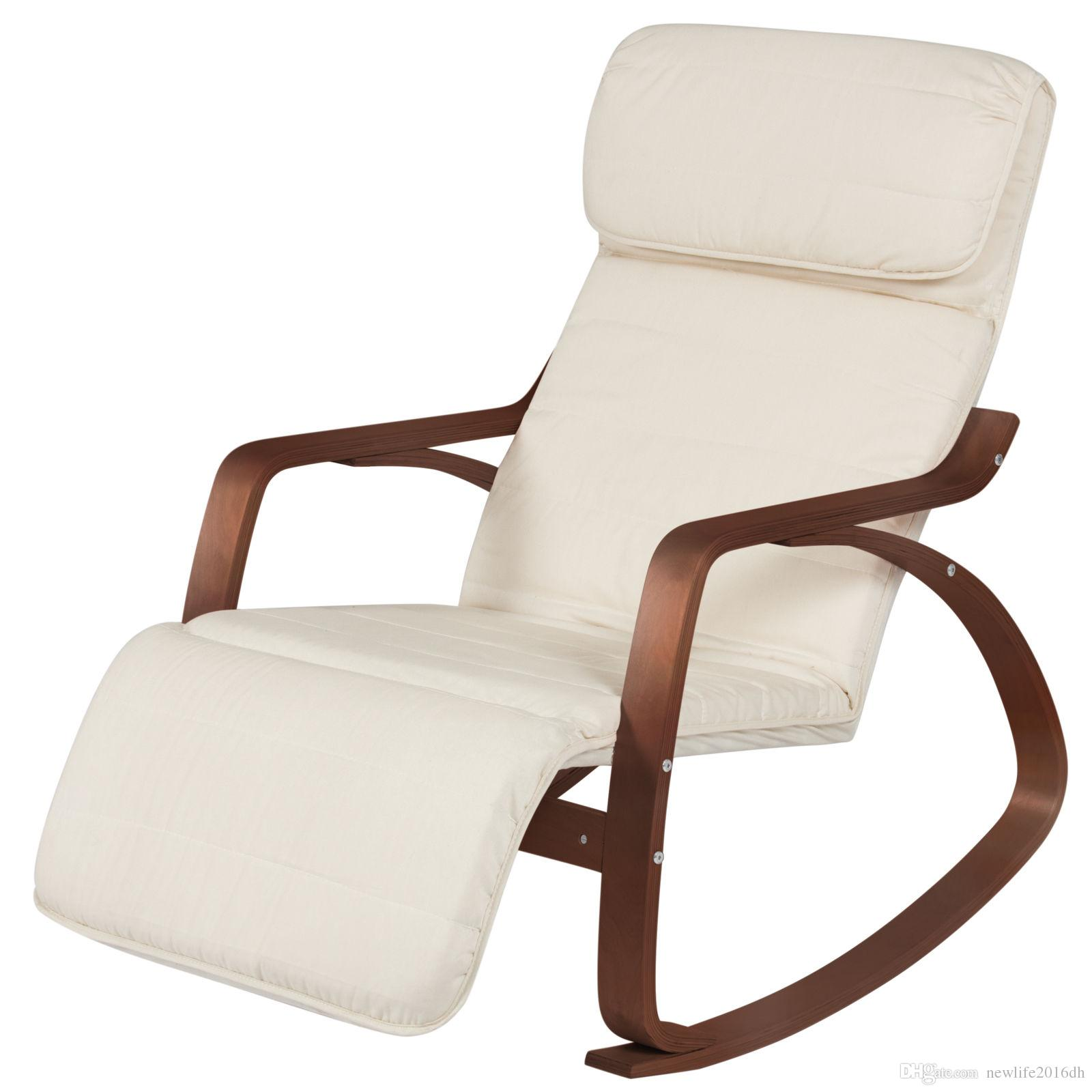 Wood Recliner Rocking Chair W/ Adjustable Foot Rest  White/Espresso Chair  Online With $92.9/Piece On Newlife2016dhu0027s Store | DHgate.com