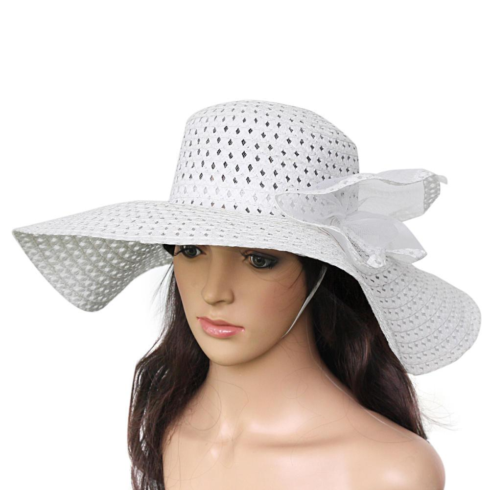 Wholesale New Fashion Women Ladies Foldable Wide Large Brim Beach Sun Hat  Summer Elegant Straw Floppy Bohemian Vacation Tour Cap Visor Hat Baby Hats  Bucket ... a52b52e6c1f