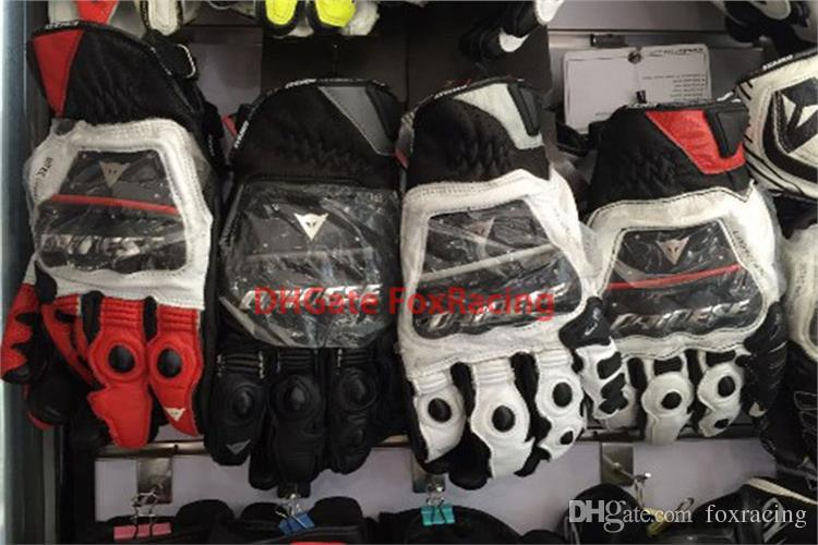 перчатки кожаные dainese black white red
