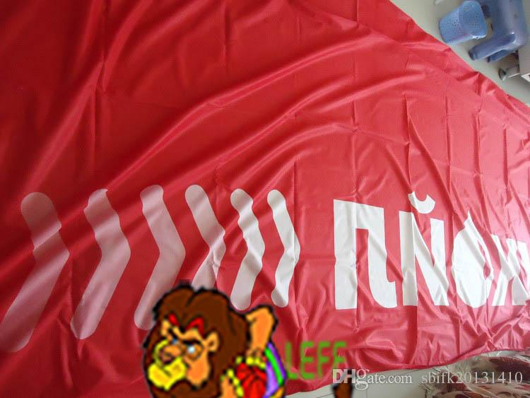 Russia Lukoil flag,LUKOIL Lubricants company banner,150*450 CM,Superior quality,windbreak knitted polyester flga