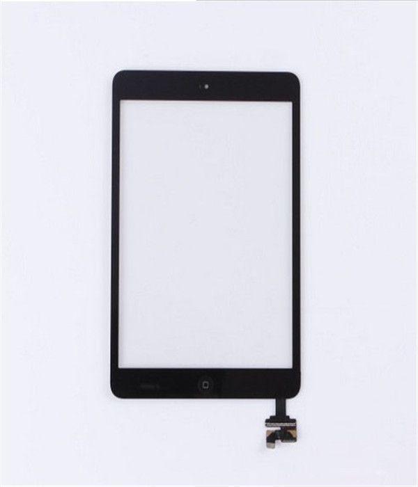 Mini touch screen digitalizzatore Home Button Ic Chip preinstallato adesivo bianco nero spedizione gratuita sostituzione parti di riparazione Ic Assembly