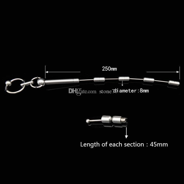 Wholesale removable adjust male stainless steel urethral sounds sex toys BDSM gear bondage chastity device urethral catheter free dhl