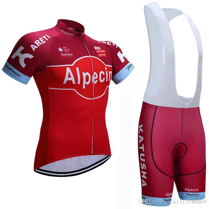 ef33b5823 UCI 2018 Pro Team Katusha Alpecin Short Sleeve Cycling Jersey Kit Ropa  Ciclismo Breathable Bicycle Clothing MTB Bike Jersey Bib Shorts Set Best  Bib Shorts ...