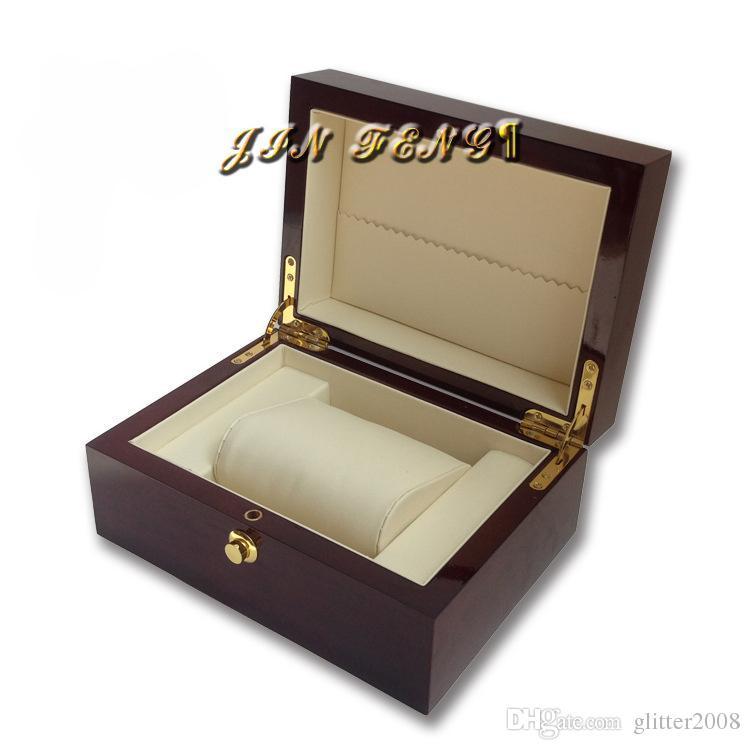 Uhrenbox Hochwertige Geschäfts-Geschenk-Verpackung Box Soild Holz-Uhr-Ausstellungskasten Piano Lack Schmuck Speicher-Organisator glitter2008