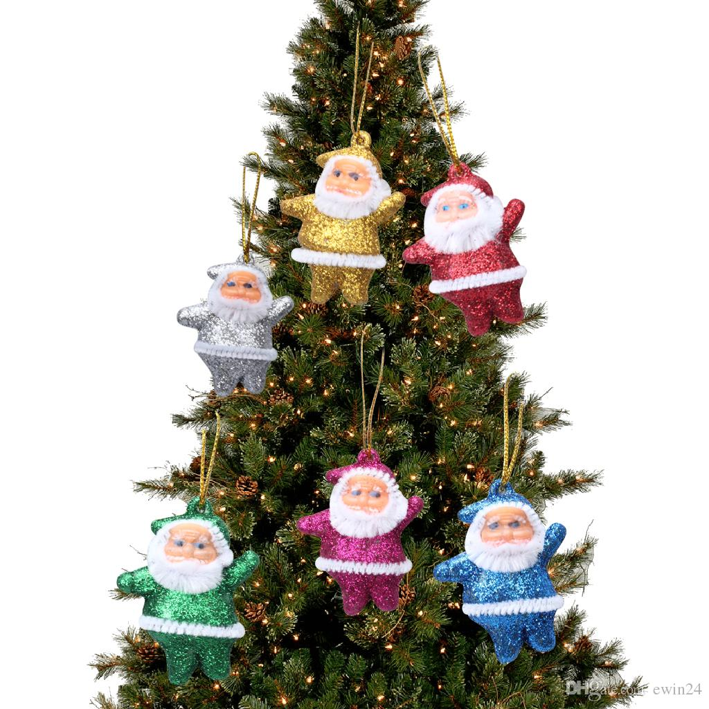 Santa Claus Doll Decoration Pendants Xmas Tree Hanging Ornaments For Kids Children Woman Gifts Party Wedding Decor