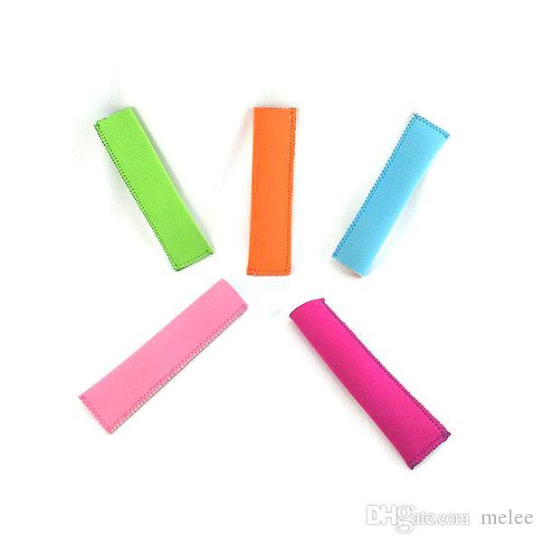 Gorąca Sprzedaż 2016 Nowy Neopren Popsicle posiadacze Lody Lody Party Posiadacze 15.5 * 4 cm Rękawy lodowe Zamrażarka Lód pokrywa 12 Kolory Wybierz darmowe