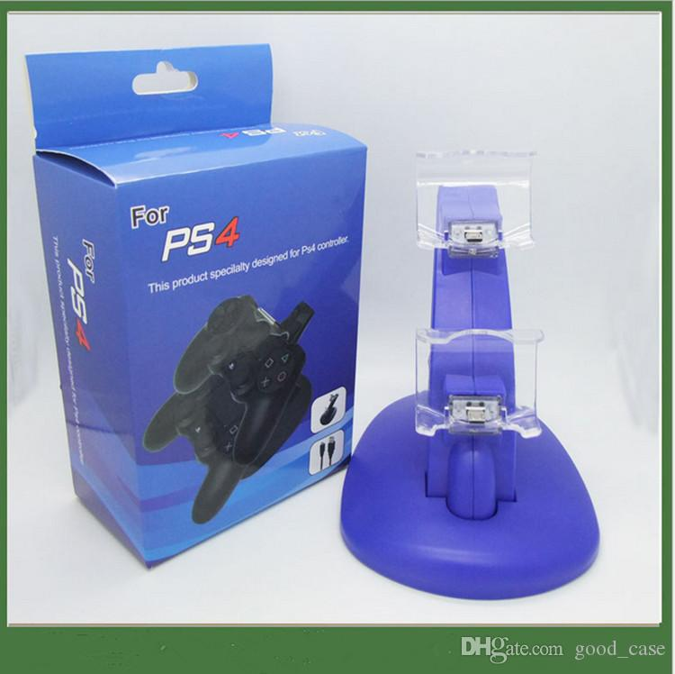 PS4 Controladores dobles Cargador Dock Stand Station Inalámbrico Gamepad Joystick Soporte de carga para Sony PlayStation 4 PS4 PS 4 Xbox one a la venta