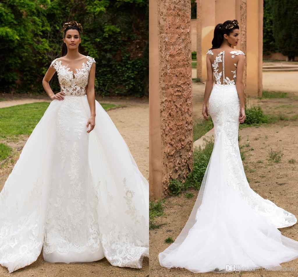 Mermaid Lace Wedding Gown: Milla Nova 2017 Mermaid Wedding Dresses With Detachable