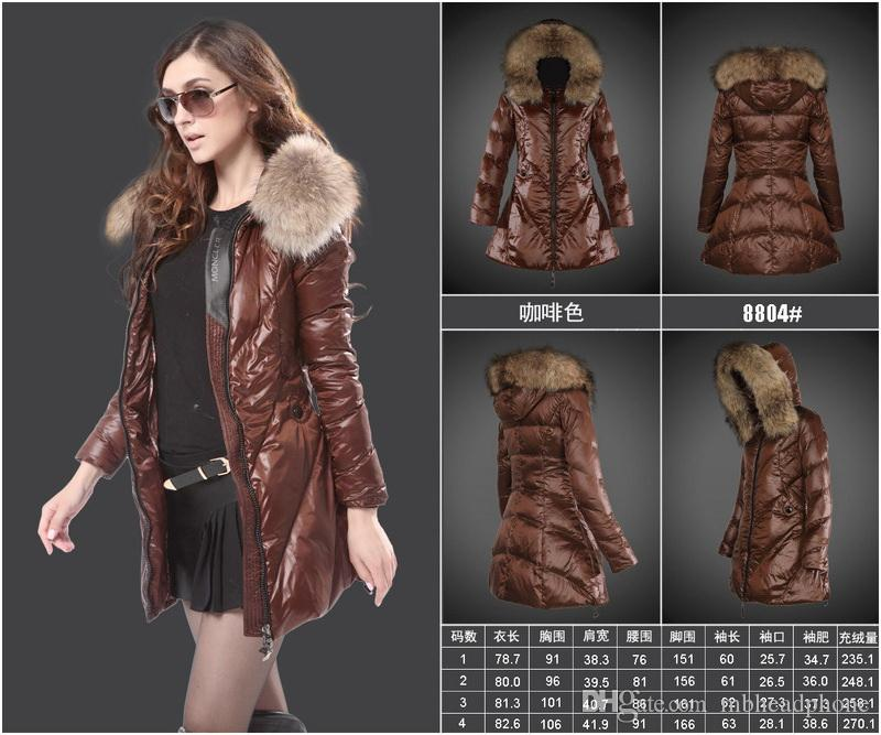 2017 New Woman Fashion Luxury Slim Thick 90% Duck Down Jacket Real ...