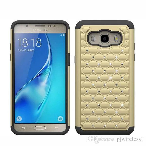 Luxus Bling Fall Rüstung Hybrid Diamond Case Cover für Samsung Galaxy G550 Grand auf G600 On7 G9300 S7 N9150 Note Edge