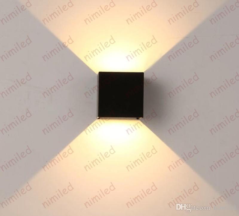 nimi971 6W Alluminio Luce Angolo Regolabile LED Esterni Impermeabili Lampade da Parete Divano Sfondo TV Lampade Corridoio Corridoio Scale