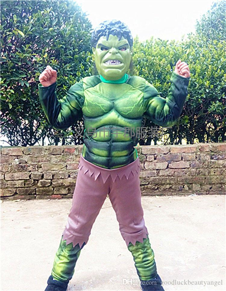 Online Cheap Halloween Children Hulk Iron Man Captain America Ant Man Muscle Models Performing Costumes Sets Kids Baby Boy Girl Avengers Cosplay Suit By ... & Online Cheap Halloween Children Hulk Iron Man Captain America Ant ...