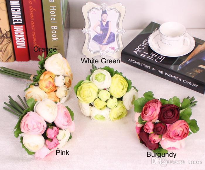 bei fiori artificiali di nozze nuziali della peonia di alta qualità fiori di seta della decorazione domestica i disponibili