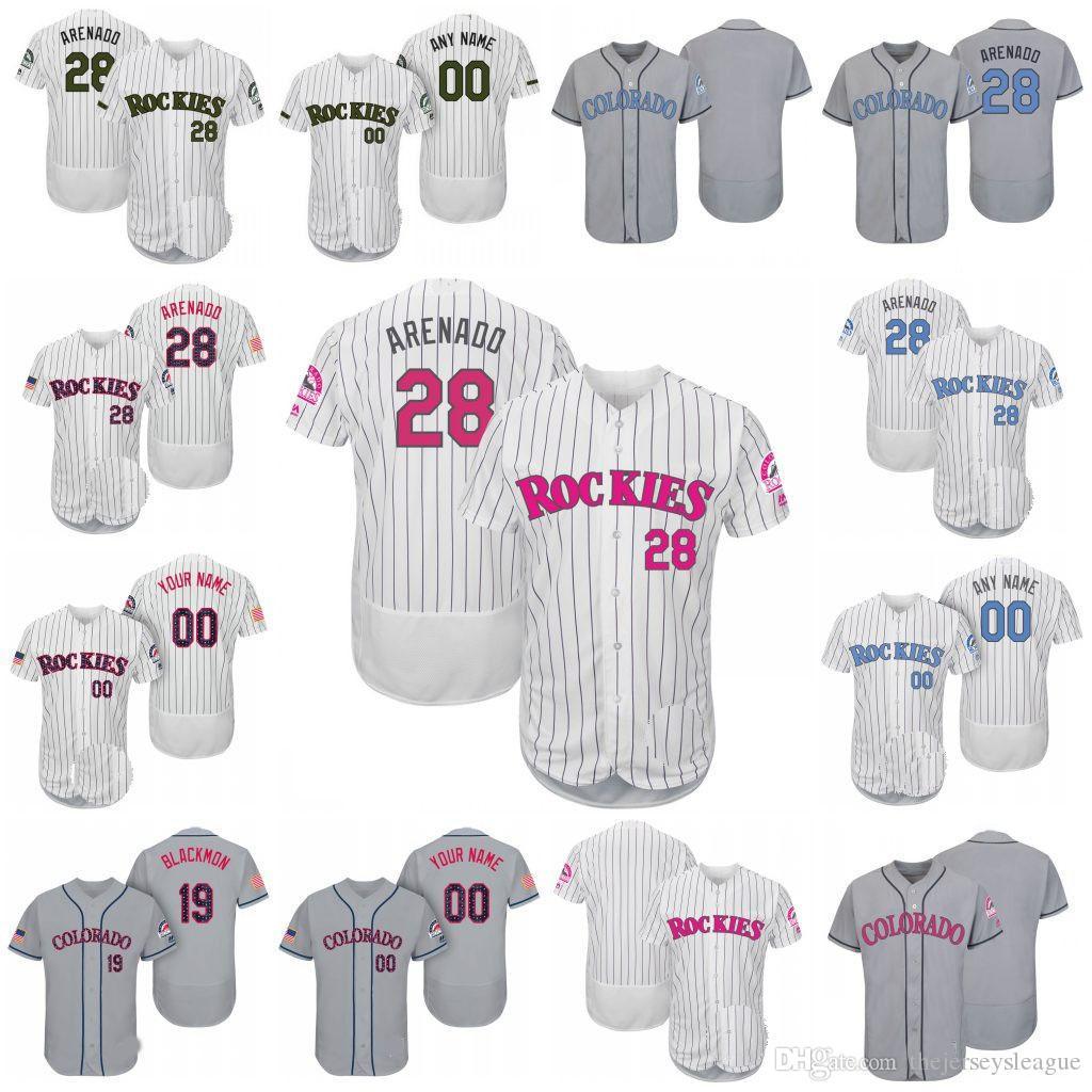 51c1b59bd ... 50% off flex base jersey custom colorado rockies 28 nolan arenado white  father mother memorial ...