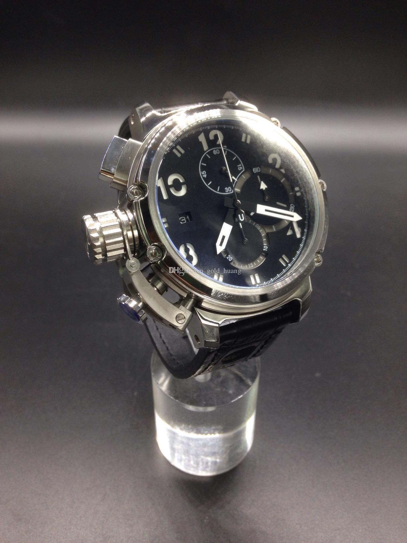 남성 시계 석영 고급 쿼츠 시계 쿼츠 크로노 그래프 쿼츠 크로노 그래프 시계