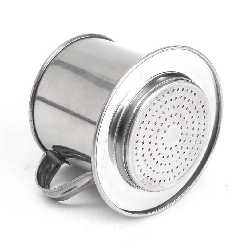 Hot Sale Stainless Vietnam Steel Coffee Drip Filter Coffee Maker Infuser Coffee Tools For Office Home Traveling 5.5 x 6.5cm