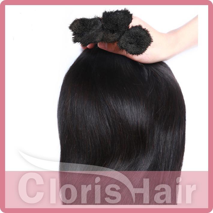 Brazilian Human Bulk Braiding Hair No Weft Cheap Straight Hair Extension in Bulk 3 Bundles Deal Exquisite Weave Bulk Best Products
