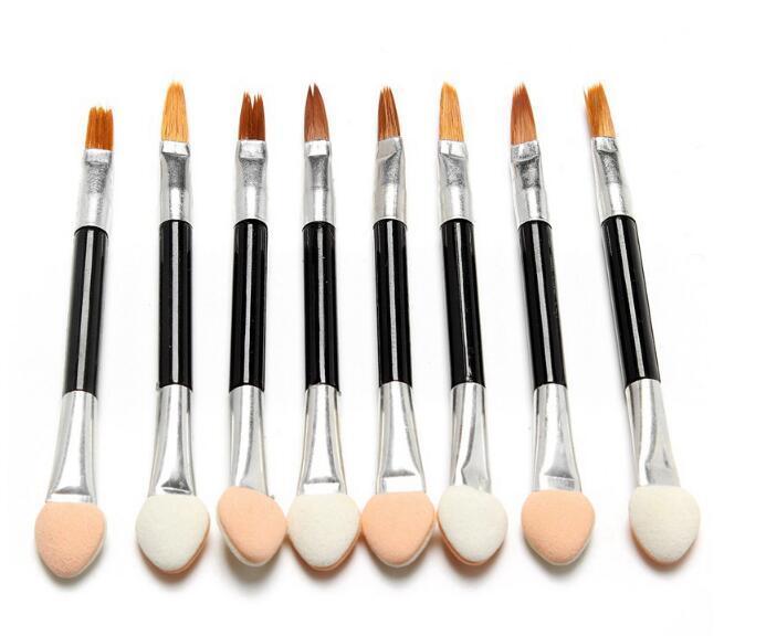 Nuevos pinceles de maquillaje Esponja desechable Cosméticos Sombra de ojos Eyeliner Lip Brush Set Aplicador para mujeres Belleza