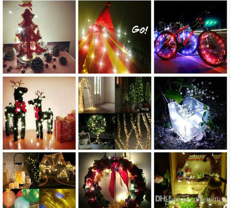 Flexible USB copper wire led string lights 5v waterproof strip lights WW TW Xmas Wedding Party christmas bicycle Decoration