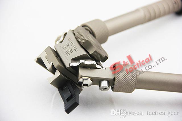 ACI BT Industries BT10 LW17 V8 Atlas Bipod QD التكتيكية 6.5 - 9 بوصة قابلة للتعديل مع الإفراج السريع Dark Earth