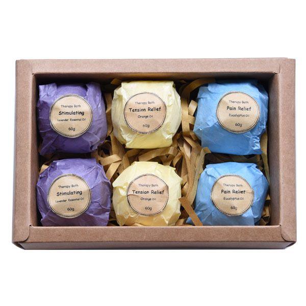 Art Naturals Bath Bombs Gift Set 6 Ultra Lush Essential Oil ...